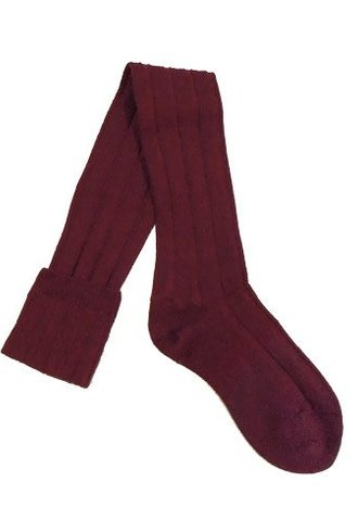 Pantherella Knee High Wool Socks Wine