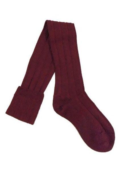 Pantherella Knee High Wool Socks Wine