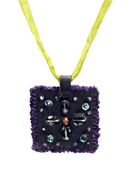 Beth Orduna Design Mix Stone Square Necklace