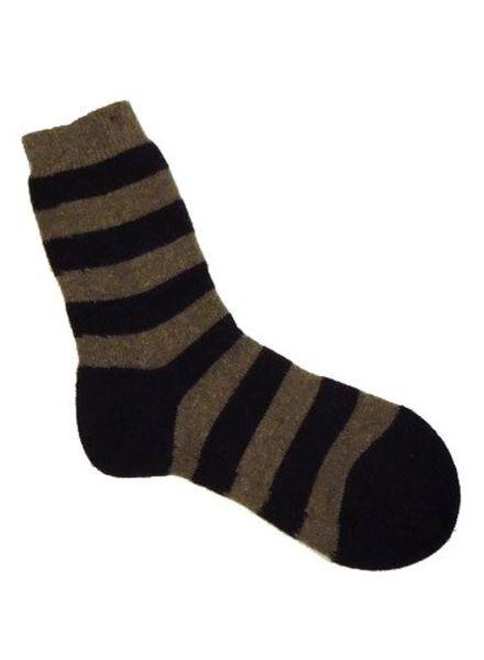 Pantherella Stripe Cashmere Socks Mink