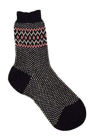 Pantherella Fairisle Socks Chocolate