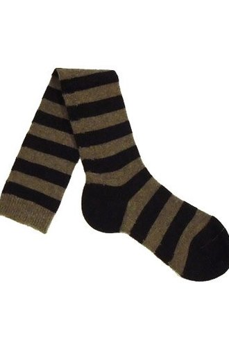 Pantherella Long Stripe Socks Mink