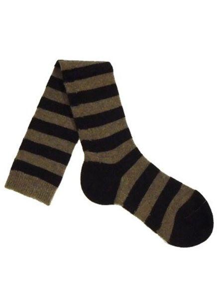 Pantherella Long Stripe Socks Mink