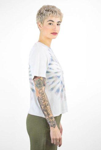 Raquel Allegra Boxy Tee Earth Tie Dye
