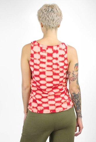 Raquel Allegra Tank Ruby Checker Tie Dye
