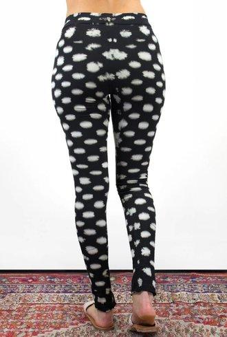 Raquel Allegra Legging Black Checker Tie Dye
