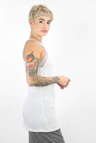 Raquel Allegra Sunfade Vintage Jersey Tank Dirty White