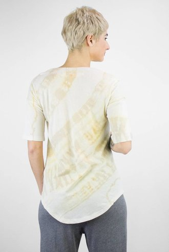 Raquel Allegra Tie Dye No Shred Jersey Basic Tee Desert