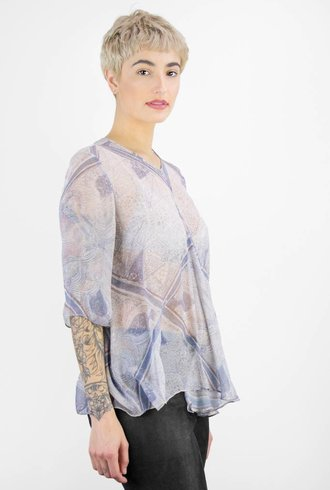 Gary Graham Silk Chiffon Square Top