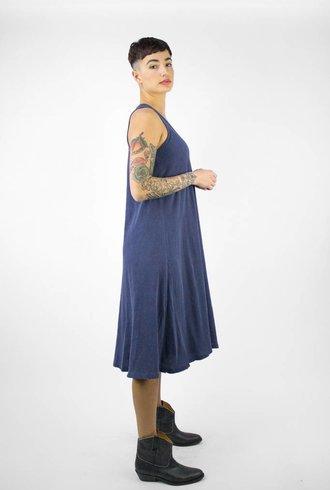 The Great The Swing Dress Mottled Blue