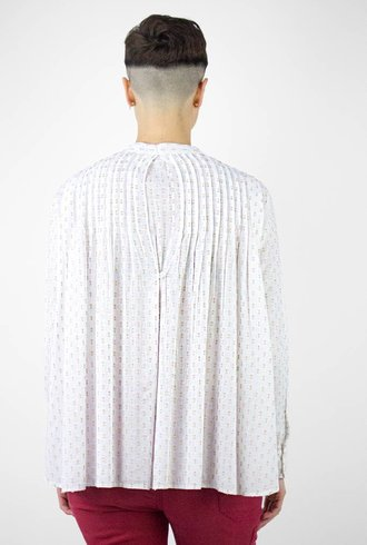 The Great The Pleat Dobby Dot Top Peach