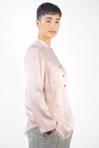 Raquel Allegra Pocket Henley Blush