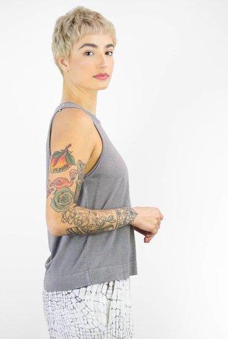 Raquel Allegra Grey Muscle Tee