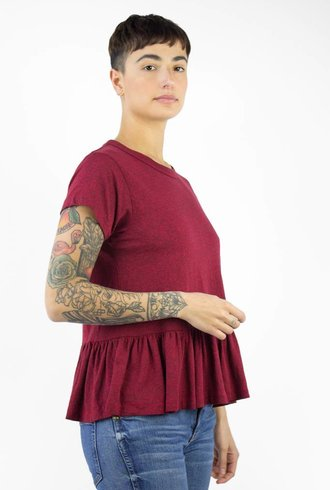 The Great The Ruffle Tee Red Heather
