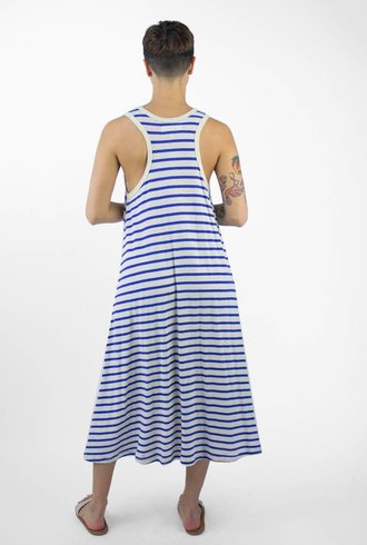 The Great The Swing Stripe Tank Dress Blue & Cream