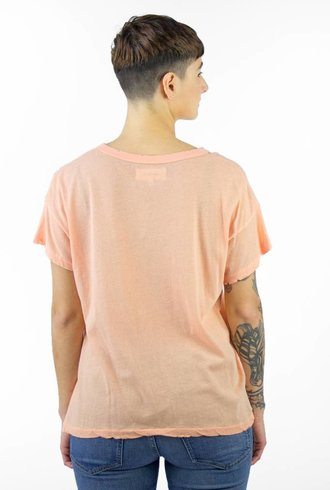The Great The Boxy Crew Tee Coral