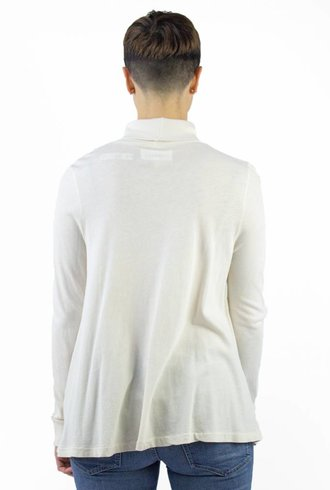 The Great The Long Sleeve Turtleneck Washed White