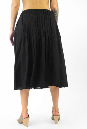 Pomandere Pleated Midi Skirt Black