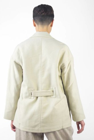 Pomandere Waist Tie Jacket Natural