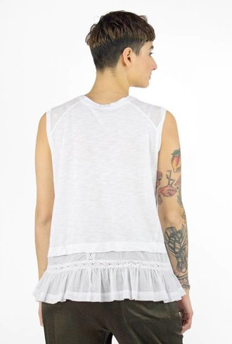 Burning Torch Jinnie Tank White