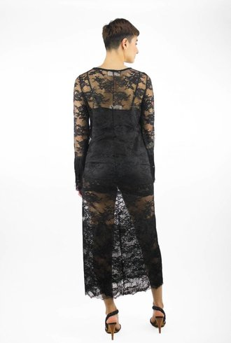 Loyd/Ford Lace Long Sleeve Dress Black