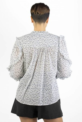 Ulla Johnson Lillian Blouse Porcelain