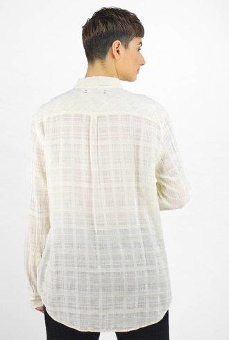 Xirena Brody Lurex Crinkle Gauze Shirt Magnolia