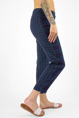 Xirena Princeton Mix Plaid Flannel Pant Indigo