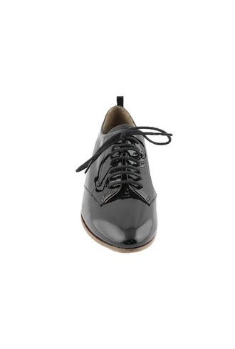 P. Monjo Glossy Leather Sneaker Naplak Negro