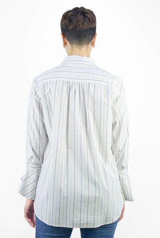 Trovata Maya Bell Sleeve Shirt White & Black