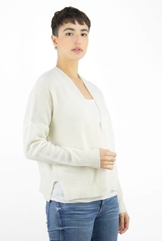 360 Sweater Florence Cardigan Chalk