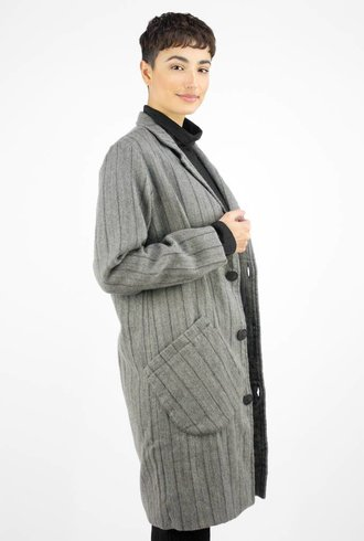 Bsbee Luson Coat Wool Stripe