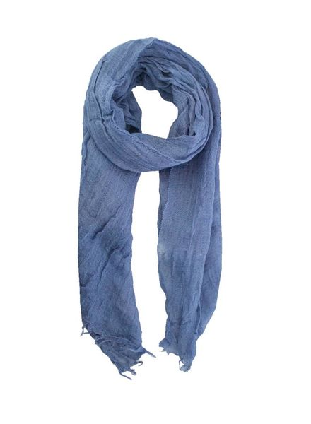 Pomandere Fringed Scarf Blue