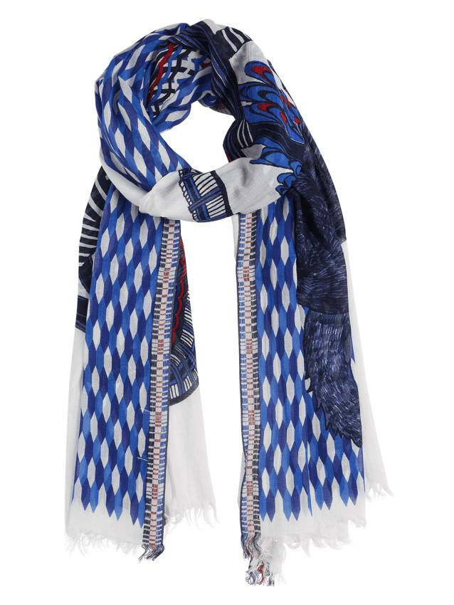 Inouitoosh Coco Cachou Scarf White Blue Womens Clothing