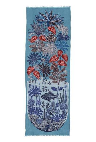Inouitoosh Herbarium Scarf Turquoise