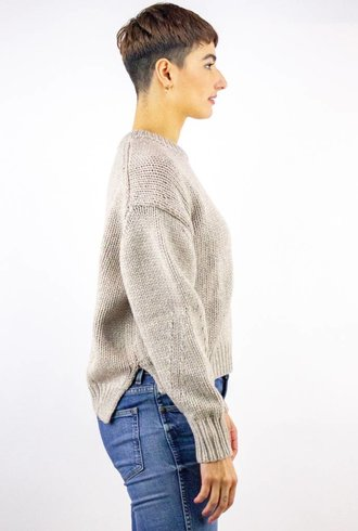 360 Sweater Velvet Sweater Flax