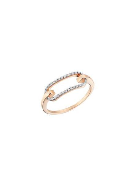 KISMET by Milka Equality Bar Ring Rose Gold