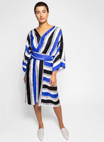 Warm Sketch Dress Cobalt Stripe