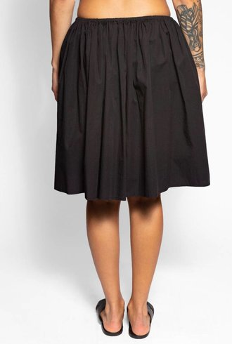 Raquel Allegra Simple Full Skirt Black