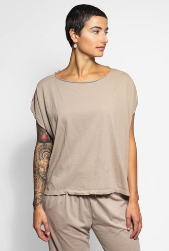 Raquel Allegra Reversible Muscle Tee Taupe