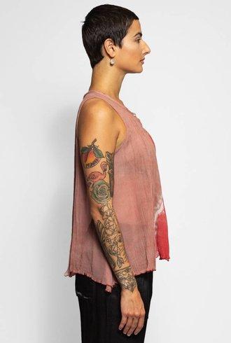 Raquel Allegra Breezy Tank Pink Sands Tie Dye