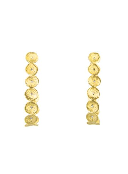Page Sargisson Astrid Hoop Earrings Gold