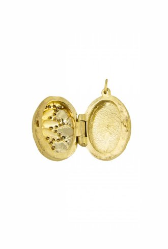 Page Sargisson Gold Locket With Diamonds