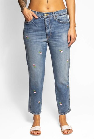 The Great The Rigid Fellow Jeans Prairie Wash Embroidered