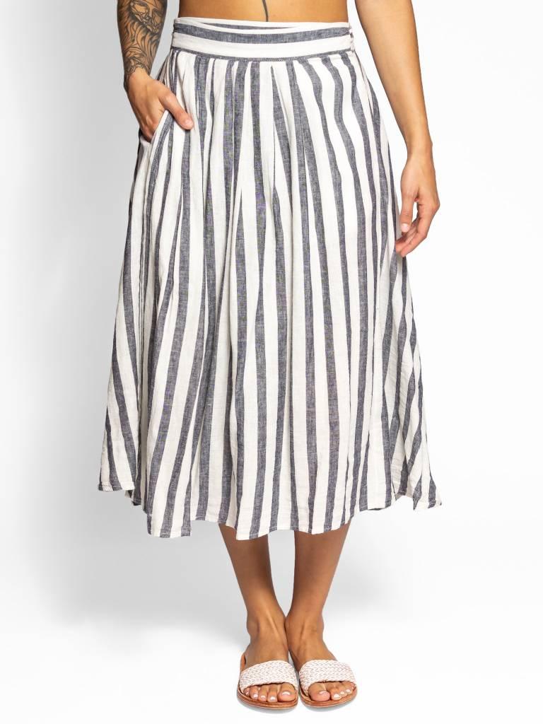 f2f6eae87 Black And White Striped A Line Midi Skirt – DACC