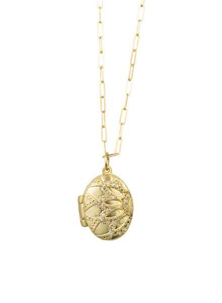 Page Sargisson Gold Locket With Diamonds