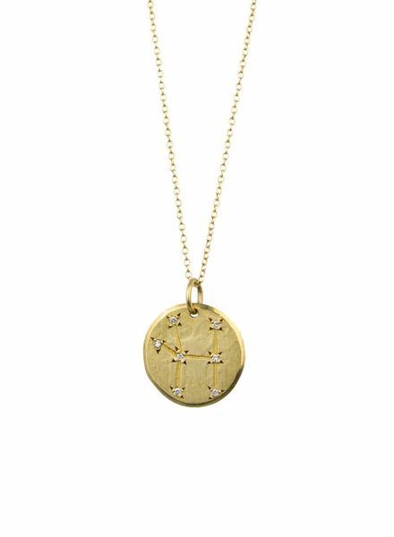 Page Sargisson Cancer Constellation Necklace Gold