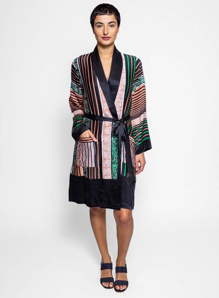 Warm Dawnridge Duster Multi Stripe