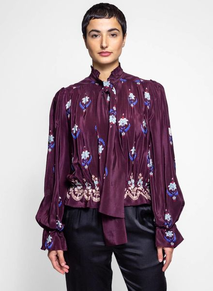 Warm Autumn Blouse Bordeaux