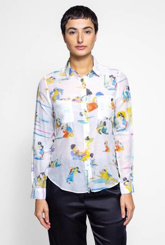 G Kero Japanese Love Cotton Silk Shirt
